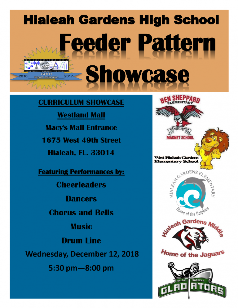 Feeder pattern showcase 2018 flyer