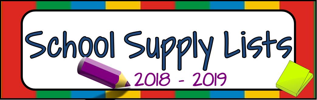 2018-2019 School Supplies