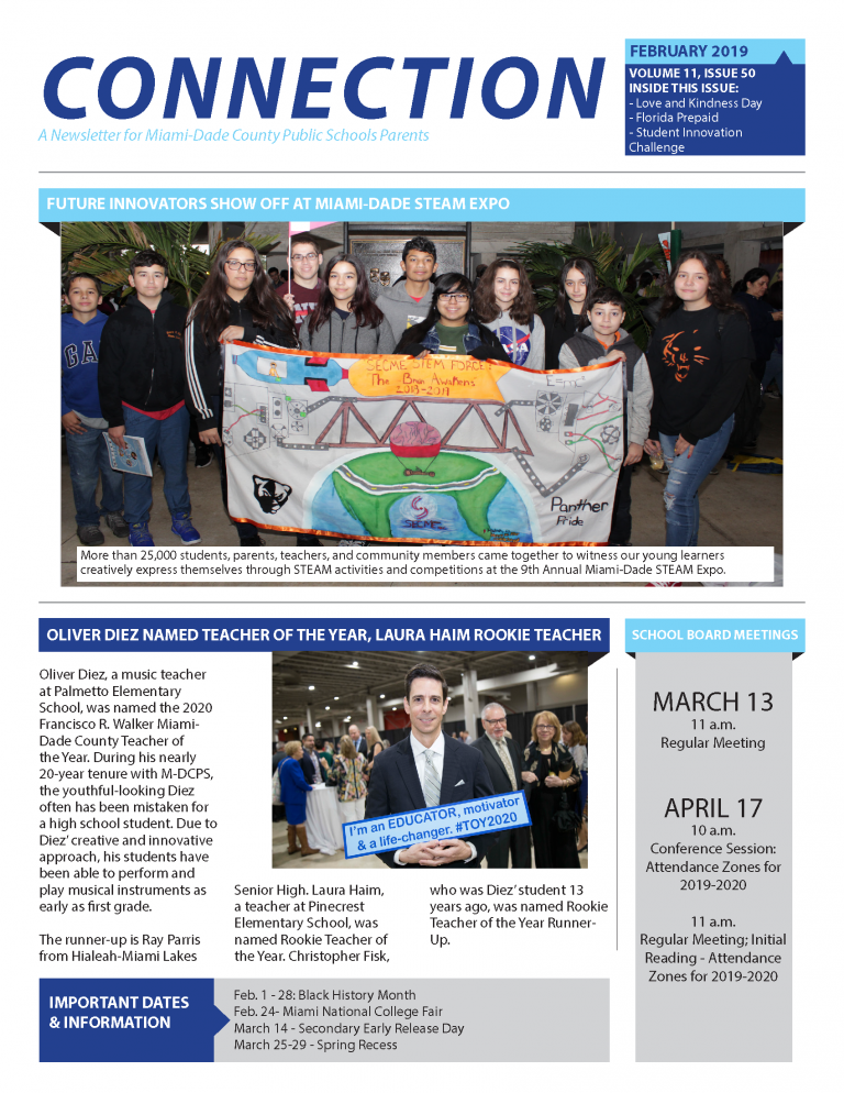 February 2019 Connection Parent Newsletter